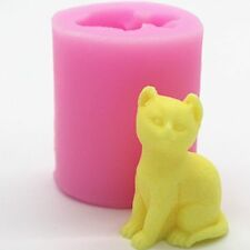Chocolate Sugar craft Silicone  Fondant Mould Ice  Mold Baking Tool DIY 3D Cat