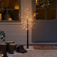 LED Light Up Pre Lit Snowy Twig Tree Decoration | Indoor Home Nordic Christmas