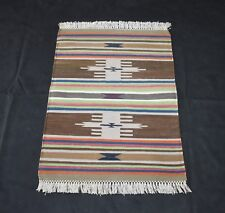Striped Design Brown Color Cotton Handmade Out/In Door Mat