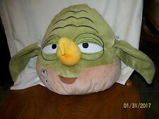 "Angry Birds Yoda Star Wars Pillow Plush 12"" Large"
