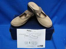 Propet Womens Pansy Warm Taupe W0255 Tan Brown 8.5 M(B) Slip on Clog Shoes