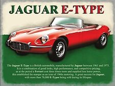 Jaguar E Type large steel sign 400mm x 300mm (og)