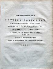 1808 – CHIOGGIA, GIUSEPPE MARIA PERUZZI, LETTERA PASTORALE – DOTTRINA CRISTIANA