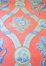 Stunning Vintage Brunschwig & Fils Heavy Canvas Print Fabric Ss908