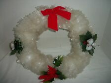 "Vintage 15"" Cellophane Christmas Wreath"