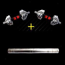 Steel Dumbbell Connecting Bar Barbells Extender Rod Strength Training Equipment