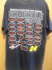 NASCAR Jeff Gordon  2003 schedule men's graphic t shirt L dark blue