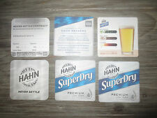 3 x 2 of each HAHN BREWERY Latest Issues collectable COASTERS