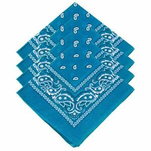 BANDANA Paisley & Plain 100% COTTON Head Wrap Head Wrap New Summer Scarf snood
