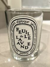 EMPTY Diptyque Feuille De Lavande Candle Jar Glass 6.5 oz 190g