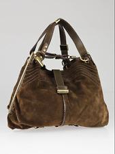 105145fd22 100% AUTHENTIC Jimmy Choo Cognac Suede   Leather Trim Alex Bag EXCELLENT