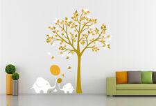 Grande ELEFANTE Tree Muro in Vinile Decalcomania Adesivi rimovibili NURSERY KIDS BABY UK