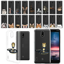 For Nokia 3.1 A/Nokia 3.1 C 5.45 2019 Design Animal Clear Tpu Gel Case Cover