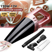 Corded Car Vacuum Cleaner HEPA Washable Handheld Dry Wet 120W 12V 13FT 3700PA