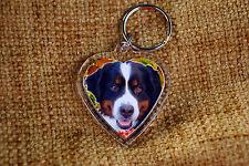Bernese Mountain Dog Keyring Dog Key Ring Free UK Post Birthday Gift
