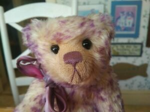 Limited Edition Pink Mohair Cotswold Bear Co. Teddy Bear England UK 11in EUC