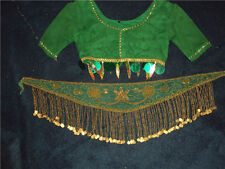 BOLLYWOOD COSTUME SKIRT BELLY DANCE SKIRT SET 3 piece set
