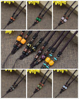Braided String Rope Cord Necklace Agate Stone for DIY Jewelry Pendant Finding