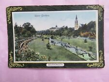 Vintage 1916 Bournemouth Upper Gardens Postcard - Boscombe cancel