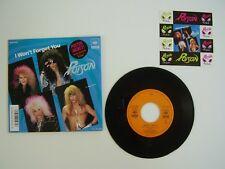 """POISON I Won't Forget You 7"""" Japan / 45t Japon PROMO Poster jacket + Stickers"""