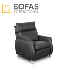 1-Seat Upholstered Leather Power Recliner Home Theater Chair