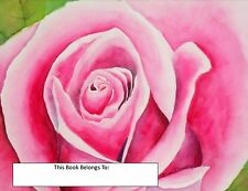 Pink Rose, Bookplates, Floral, Unique, Gift