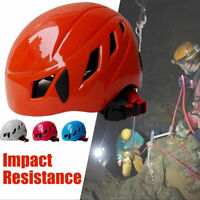 Safety Rock Hat Cap Climbing Downhill Caving Rappelling Rescue Helmet Protector