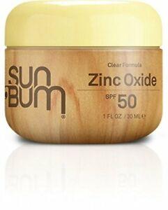 Sun Bum Clear Zinc Oxide Lotion, 1-Ounce