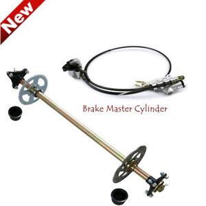 Go Kart Rear Axle kit+ Hydraulic Brake cylinder for ATV Mini Cart Drift Trike