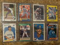 8) Edgar Martinez 1988 Fleer 1989 Donruss Upper Rookie card lot RC 90 Leaf Topps
