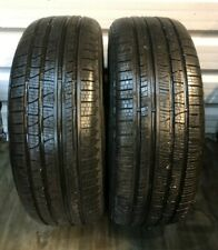 2 x Pirelli Scorpion Verde Extra Load, 255/55/20, 110W, 7.3-8.8mm- NO REPAIRS