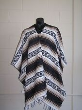 Genuine Mexican Poncho Western Style Brown Falsa Blanket Costume Party Supplies