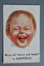 R&L Postcard: Comic, J Salmon, Merry and Bright in Sheffield, Laughing Boy