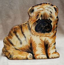 "Shar Pei Flower Vase Dogs By Nina Lyman Ceramic Dog Statue 8"" Tall"