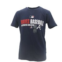 Atlanta Braves Official MLB Authentic Majestic Kids Youth Size T-Shirt New Tags