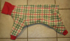 Christmas Plaid 4 Leg Dog Pj Jammie Italian Greyhound Xolo Chinese Crested