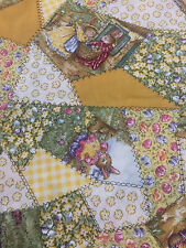 Holly Pond Hill Susan Wheeler Easter Bunnies Cotton Fabric Quilt Sew OOP 1.5 YDS