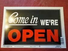 2 Pack Hillman Group 839916 8 Inch x 12 Inch Double Sided Open Closed Sign Red