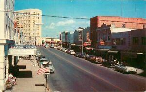Sarasota Florida 1950s Main Street automobiles Tichnor Postcard 21-4743