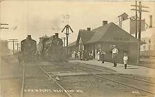 Wisconsin, WI, West Bend, C & N W Depot 1924 Real Photo Postcard