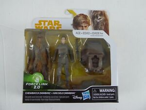 STAR WARS CHEWBACCA & HAN SOLO FORCE LINK 2.0  (MIMBAN) - NEW