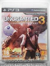 jeu UNCHARTED 3 L'ILLUSION DE DRAKE sur playstation 3 PS3 francais game TBE