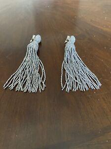 oscar de la renta earrings clip