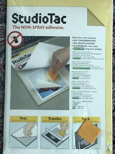 Letraset StudioTac Adhesive Sheets - A3 Size 25 Pack + Applicator - Free P&P