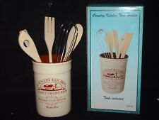 Country Kitchen Ceramic Tool Holder with 5 Gadgets NEW!