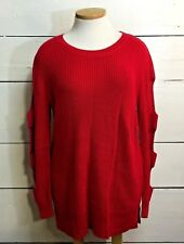 a.n.a. Women's Knit Sweater Tunic Shirt Size 2XL Red Cutouts on Sleeves New