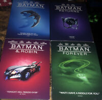 RARE BATMAN,BATMAN RETURNS,BATMAN FOREVER, BATMAN & ROBIN DVD LOT W/Slipcases
