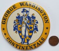 Vintage George Washington Continentals Pinback Button Indianapolis Indiana LARGE