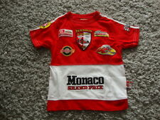 T-shirt rouge  garçon Formule 1 Monaco Grand Prix Taille 2-3ans