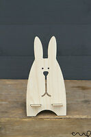 NEW Wooden Rabbit Business Card Memo Holder Mobile Phone Stand Desk Gift Party